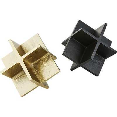 cooper black-brass objects set of 2 - CB2