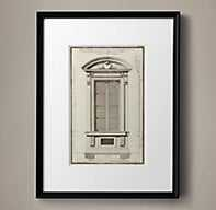 """18TH C. ENGRAVINGS OF FRENCH NEOCLASSICAL ARCHITECTURE 1 - 18""""W X 23½"""" H - RH"""
