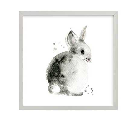 "Bunny 2 Wall Art By Minted® - 11"" x 11"" - Gray - Pottery Barn Kids"