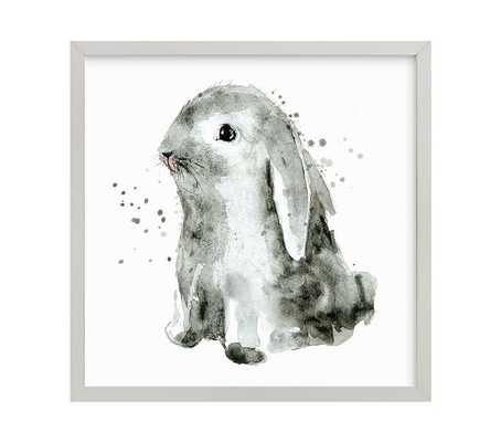 "Bunny 1 Wall Art By Minted® - 11"" x 11"" - Gray - Pottery Barn Kids"