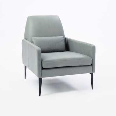 Smythe Chair, Leather, blue stone - West Elm