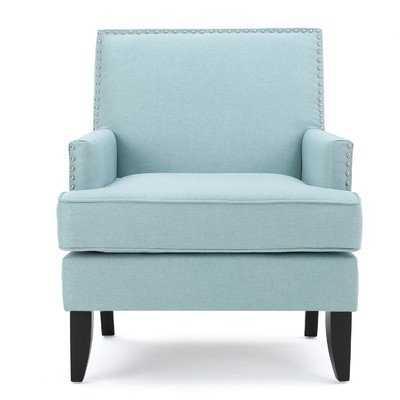 Chilton Arm Chair; Light Blue - Wayfair