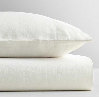 WASHED LINEN-COTTON CRIB FITTED SHEET - RH