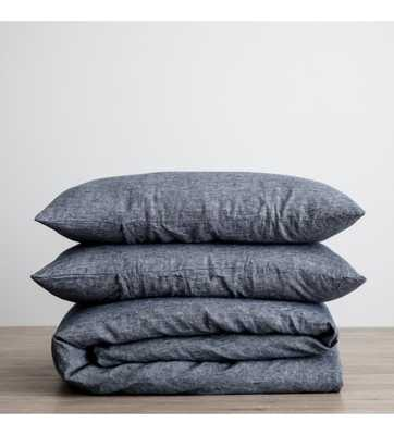 CULTIVER LINEN BEDDING, INDIGO DUVET SET - Lulu and Georgia