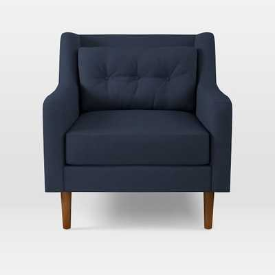 Crosby Armchair, Twill, Regal Blue - West Elm