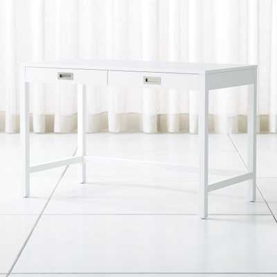 Aspect White Desk - Crate and Barrel