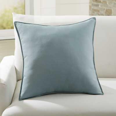 """Sunbrella ® Canvas Spa 20"""" Sq. Outdoor Pillow - Crate and Barrel"""