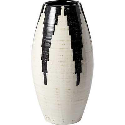 siena black and white vase - CB2