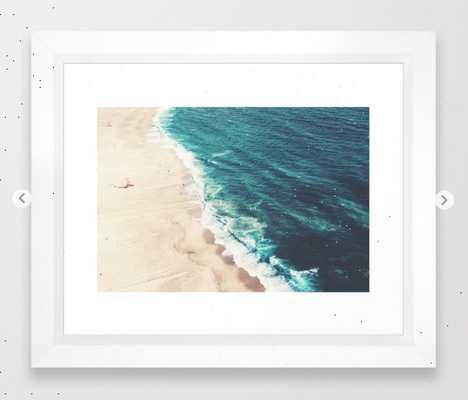 "Beach Nazare Art Print - 10"" x 12"" - Vector White Frame - Society6"