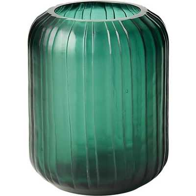 cruz teal glass vase - CB2