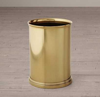 Newbury Wasytebasket -Aged Brass - RH