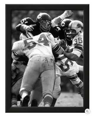FOOTBALL: CHICAGO BEARS DICK BUTKUS NO.51 IN ACTION VS DETROIT LIONS framed - art.com
