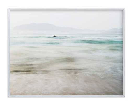 """The Pacific Wall Art -40""""x30"""" Brushed Silver Frame No Border - Minted"""