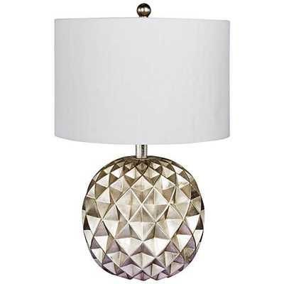 """Trilogy 19 1/2"""" High Silver Foil Accent Table Lamp - Lamps Plus"""