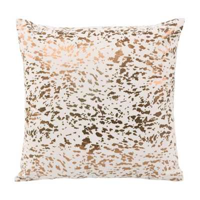 Joanna Speckled Cream and Lilly Throw Pillow - Maren Home