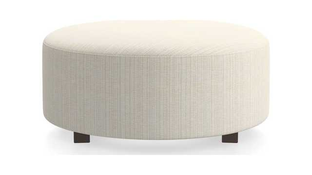 "Syd 38"" Round Cocktail Ottoman - Crate and Barrel"