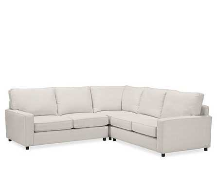 PB COMFORT SQUARE ARM UPHOLSTERED 3-PIECE L-SHAPED SECTIONAL WITH CORNER - Pottery Barn