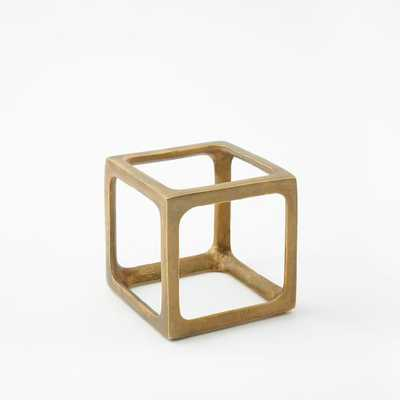 Metal Cube Objects, Small - West Elm