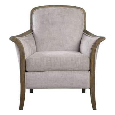 Brittoney Taupe and Stone Accent Armchair - Hudsonhill Foundry