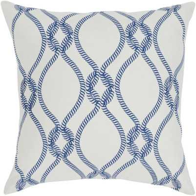 "Haylard 18"" x 18""  Pillow Shell with Down Insert (HYD002-1818D) - Neva Home"