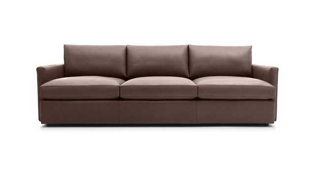 "Lounge II Leather 3-Seat 105"" Grande Sofa - Crate and Barrel"