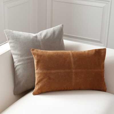 "Ballard Designs Sueded Leather Throw Pillows camel 12"" x 20"" - Ballard Designs"