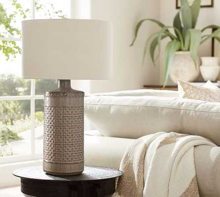 JAMIE YOUNG EMMA CERAMIC COLUMN TABLE LAMP - Pottery Barn