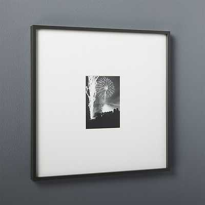 gallery black 5x7 picture frame - CB2