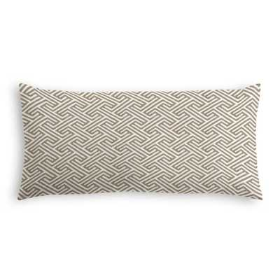 Lumbar Pillow  Labyrinth - Rock - Loom Decor