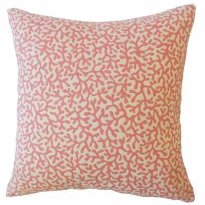 Verena Coastal Pillow Coral - down insert - Linen & Seam