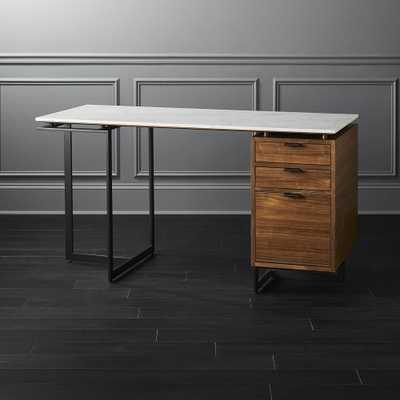Fullerton Modular Desk with Drawer and Leg - CB2
