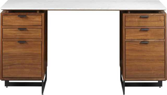 Fullerton Modular Desk with 2 Drawers - CB2