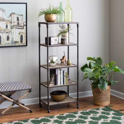 Belham Living Franklin Reclaimed Wood Industrial Bookcase - Hayneedle