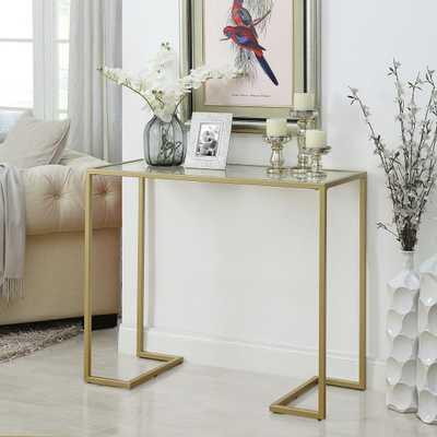 Carolina Chair & Table Co. Monaco Glass Top Console Table - Hayneedle