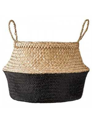 SERENA BASKET, NATURAL & BLACK - Lulu and Georgia