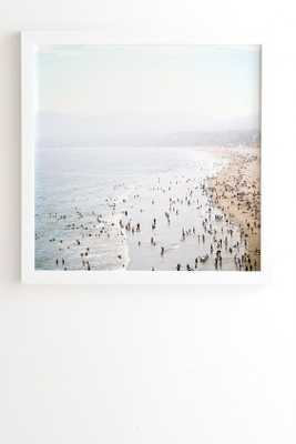 LA SUMMER Framed Wall Art -30x30 white frame - Wander Print Co.