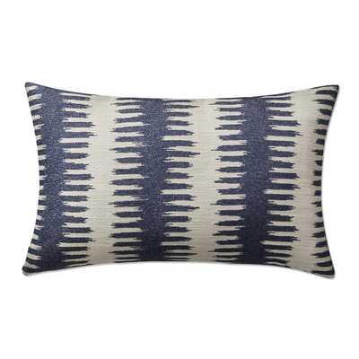 """Paloma Ikat Lumbar Jacquard Pillow Cover, 14"""" X 22"""", Navy - Williams Sonoma"""