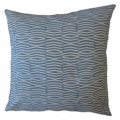 Redell Geometric Pillow Blue - Linen & Seam