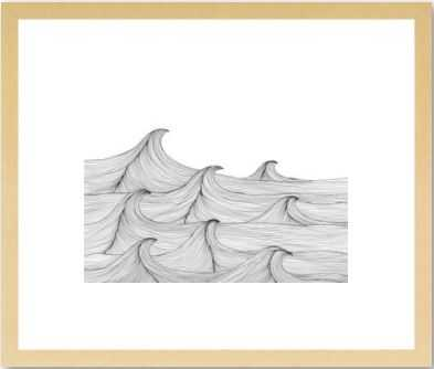 """Rush 14 x 11"""" print with natural wood frame, with mat - Artfully Walls"""