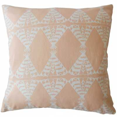"Eamhair Graphic Pillow Sundown - 22""x22""Down Insert - Linen & Seam"