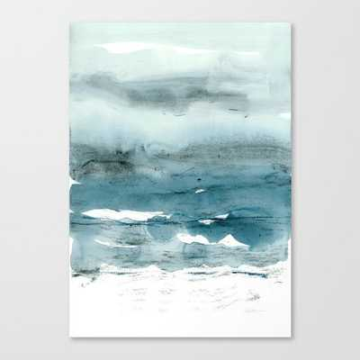 "dissolving blues canvas print, 24"" x 34"" - Society6"