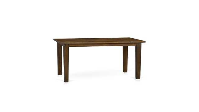 """Basque Honey 65"""" Dining Table - Crate and Barrel"""