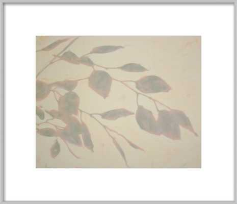 """PAVANES - 17"""" x 14"""" Frosted silver metal, frame width 0.25"""", depth 0.75"""" - Artfully Walls"""