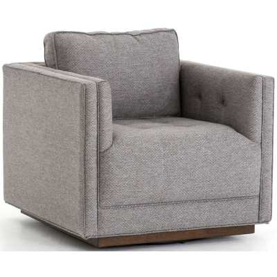 Kiera Swivel Chair, Noble Greystone - High Fashion Home