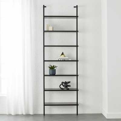 """Stairway Black 96"""" Wall Mounted Bookcase"" - CB2"