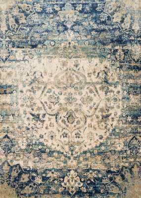 "ANASTASIA Rug BLUE / IVORY 7'-10"" x 10'-10"" - Loma Threads"