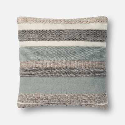 """DSET Pillow SAGE 22"""" X 22"""" Cover w/Down - Loma Threads"""