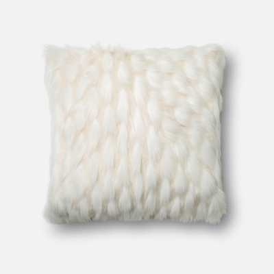 "DSET Pillow WHITE 22"" X 22"" Cover w/ Polyester fill - Loma Threads"