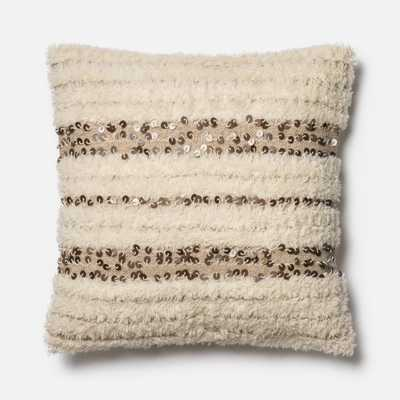 """DSET Pillow IVORY 22"""" X 22"""" Cover w/Down - Loma Threads"""