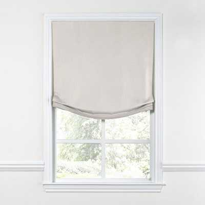 Relaxed Roman Shade  Cozy Up - Natural, Left Cord - W 22 3/4'' x H 71'' - Loom Decor